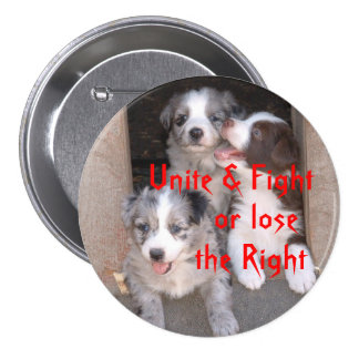 Fight for the right to Breed Dogs Buttons
