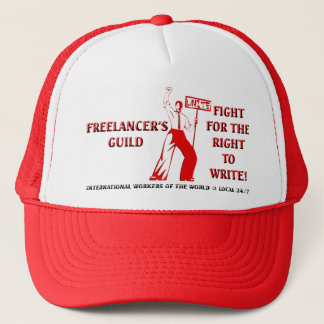 FIGHT FOR THE RIGHT TO WRITE TRUCKER HAT