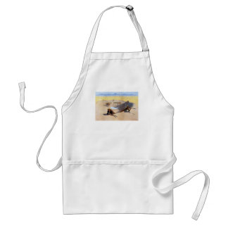 Fight for the Water Hole by Frederic Remington Adult Apron