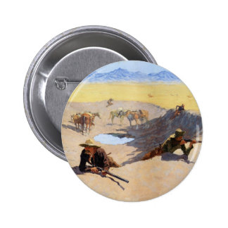 Fight for the Water Hole by Frederic Remington Pinback Buttons