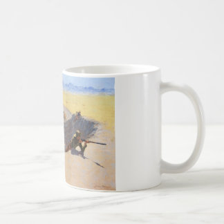 Fight for the Water Hole by Frederic Remington Basic White Mug