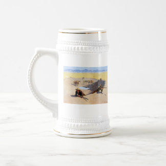 Fight for the Water Hole by Frederic Remington Beer Stein