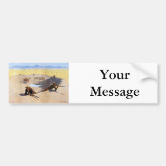 Fight for the Water Hole by Frederic Remington Car Bumper Sticker