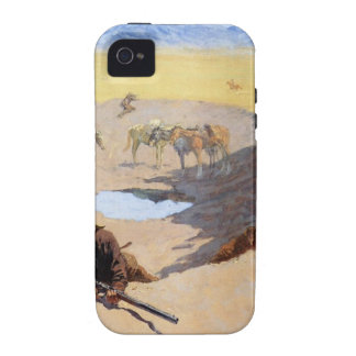 Fight for the Water Hole by Frederic Remington Case-Mate iPhone 4 Cases