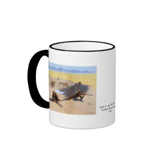 Fight for the Water Hole by Frederic Remington Ringer Coffee Mug