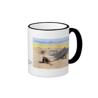 Fight for the Water Hole by Frederic Remington Coffee Mugs