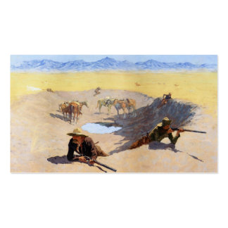 Fight for the Water Hole by Frederic Remington Pack Of Standard Business Cards
