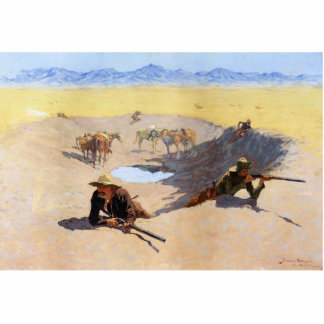 Fight for the Water Hole by Frederic Remington Photo Sculpture Magnet