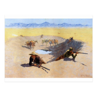 Fight for the Water Hole by Frederic Remington Postcard