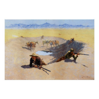 Fight for the Water Hole by Frederic Remington Poster