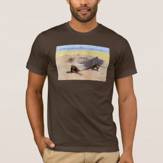 Fight for the Water Hole by Frederic Remington T-Shirt