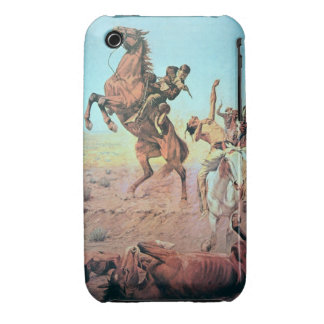 Fight for the Water Hole (colour litho) iPhone 3 Case-Mate Cases