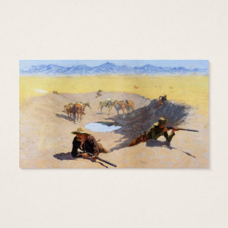 Fight for the Water Hole ~ Frederic Remington Business Card