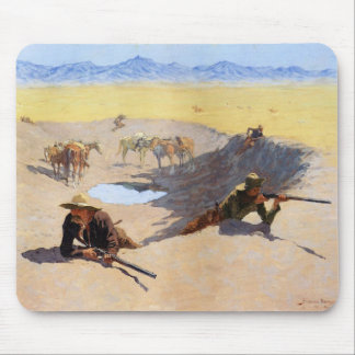 Fight for the Water Hole ~ Frederic Remington Mouse Pad