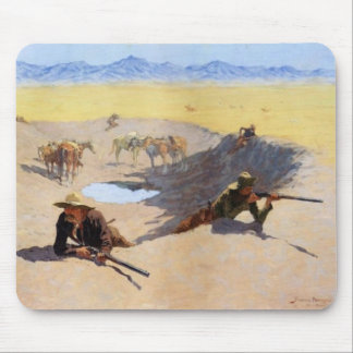 Fight for Water hole Mouse Pad