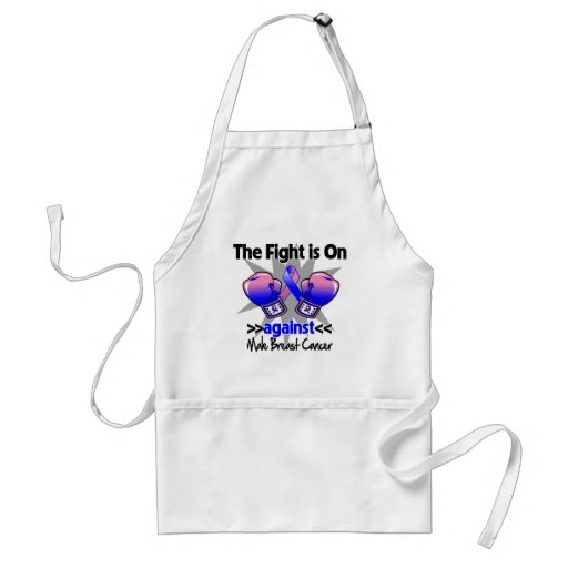 Fight is On Against Male Breast Cancer Apron