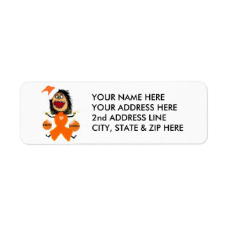 Fight Leukemia Orange Ribbon Return Address Label