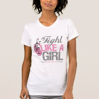Fight Like a Girl Boxing - Breast Cancer T-shirt