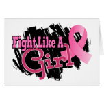 Fight Like A Girl Breast Cancer 17.8 Greeting Cards