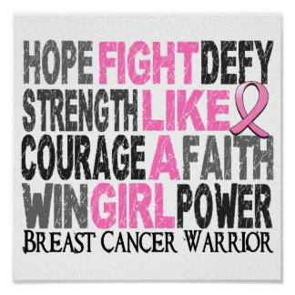 Fight Like A Girl Breast Cancer 23 4 Print