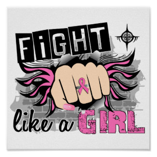 Fight Like A Girl Breast Cancer 27 8 Poster