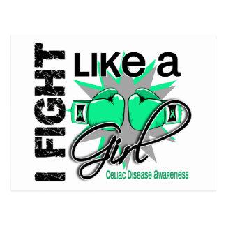 Fight Like A Girl Celiac Disease 13 1 Post Card