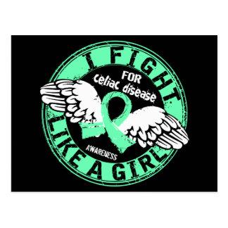 Fight Like A Girl Celiac Disease 16 5 Post Cards