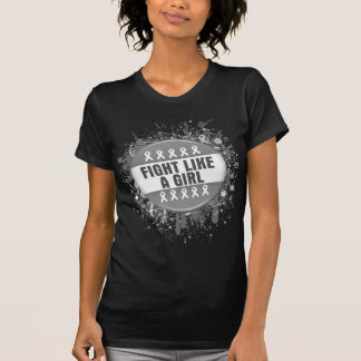 Fight Like a Girl Cool Button - Brain Tumor Shirts