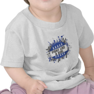 Fight Like a Girl Cool Button - Colon Cancer T Shirts