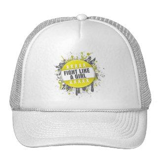 Fight Like a Girl Cool Button - Endometriosis Trucker Hats