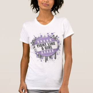 Fight Like a Girl Cool Button - General Cancer Tshirt