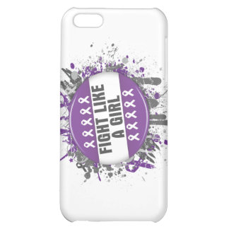 Fight Like a Girl Cool Button - Leiomyosarcoma iPhone 5C Covers