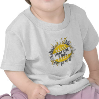 Fight Like a Girl Cool Button - Neuroblastoma Tshirts