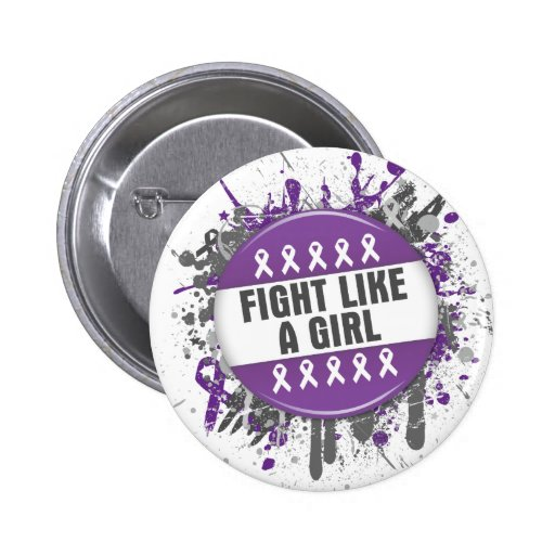 Fight Like a Girl Cool Button - Pancreatic Cancer