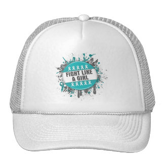 Fight Like a Girl Cool Button - PCOS Mesh Hat