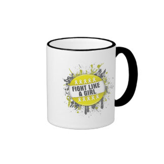 Fight Like a Girl Cool Button - Sarcoma Coffee Mug