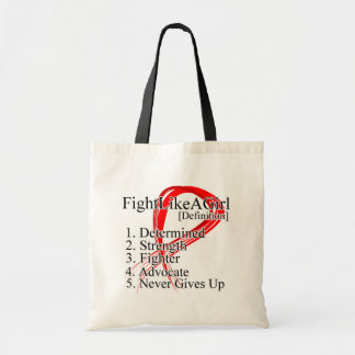 Fight Like a Girl Definition - Blood Cancer Canvas Bags