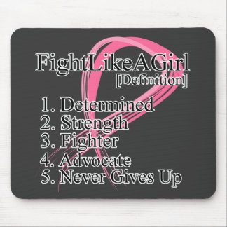 Fight Like a Girl Definition - Breast Cancer Mouse Pad