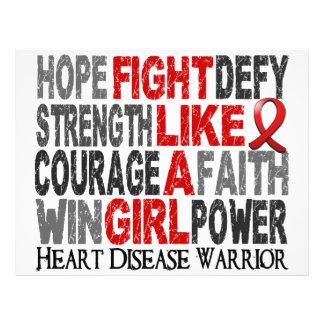 Fight Like A Girl Heart Disease 23 4 Flyer Design
