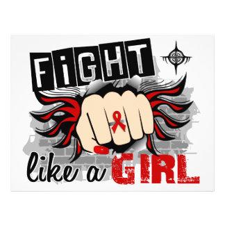 Fight Like A Girl Heart Disease 27.8 Custom Flyer