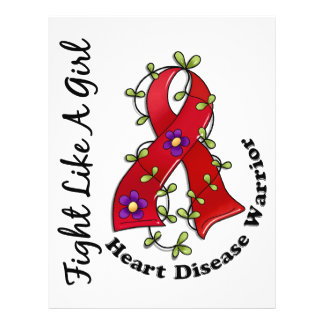 Fight Like A Girl Heart Disease 29 4 Custom Flyer