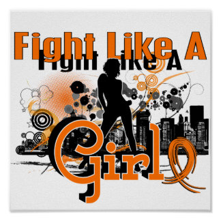 Fight Like A Girl Multiple Sclerosis 30.8 Print