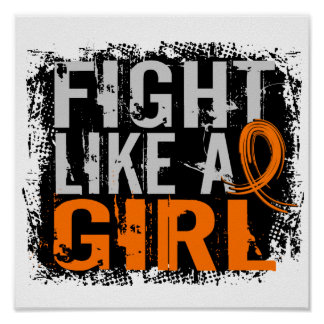 Fight Like a Girl Multiple Sclerosis 31.8 Print