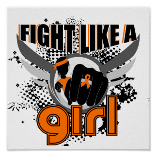 Fight Like A Girl Multiple Sclerosis 33 8 Poster