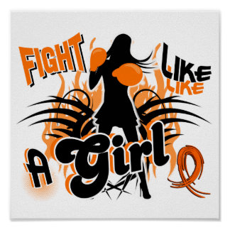 Fight Like A Girl Multiple Sclerosis 35 8 Poster