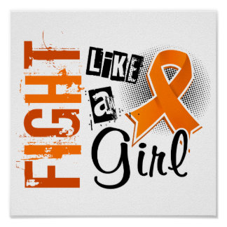 Fight Like A Girl Multiple Sclerosis 36 8 Poster