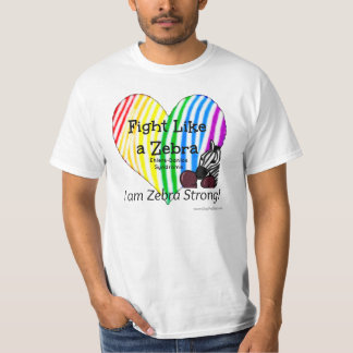 Fight Like a Zebra Ehlers-Danlos Awareness (XXL) T-Shirt