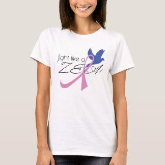 fight like a zeta breast cancer awareness shirt