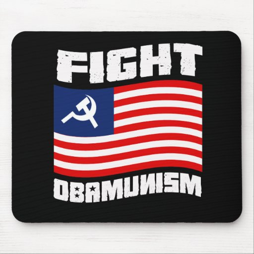 Fight Obamunism white Mouse Mat