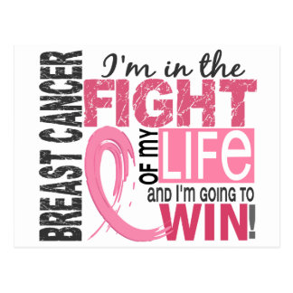 Fight Of My Life Breast Cancer Postcard